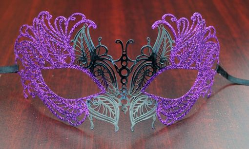 Masquerade Lazer Cut Metal Masquerade Eye Mask Purple