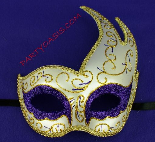 Purple Masquerade Luna Mask