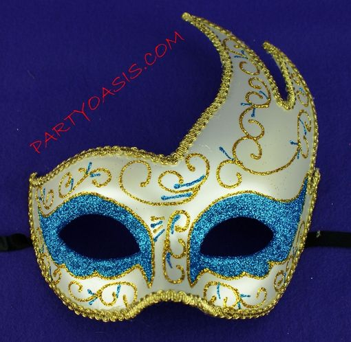 Masquerade Luna Mask Light Blue