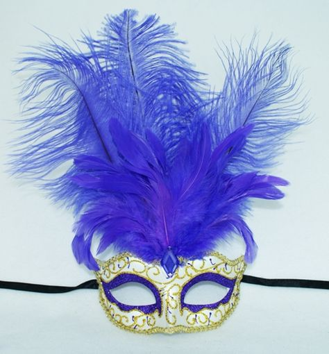 Masquerade Mask w/ Feather