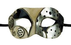 Masquerade Men's Mask Silver