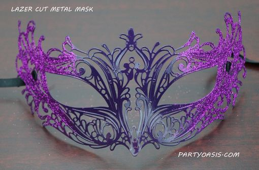 Masquerade Metal Mask Purple