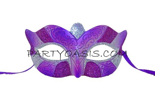 Masquerade Party Mask Purple/Silver