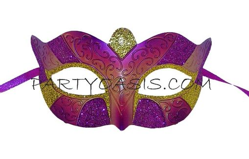 Masquerade Party Mask Purple/Gold