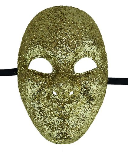 Masquerade Solid Gold Jester Mask