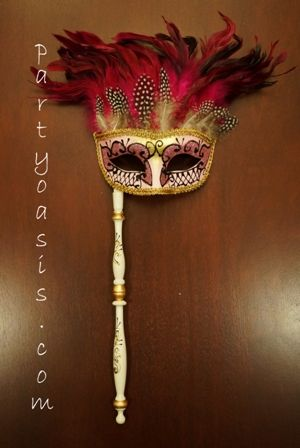 Masquerade Stick Mask