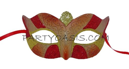 Masqurade Party Mask Red/Gold