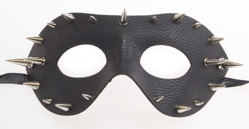 Black Leather Mask Dominatrix Metal Stud Mask