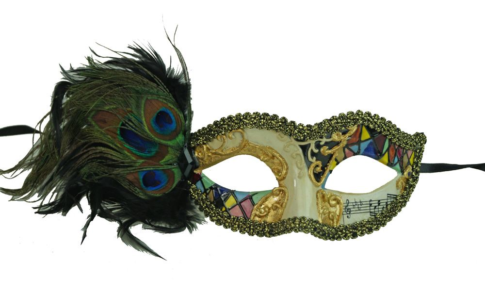 Medellin Feather Masquerade Mask