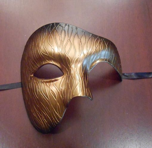 Men's Gold Phantom Masquerade Mask