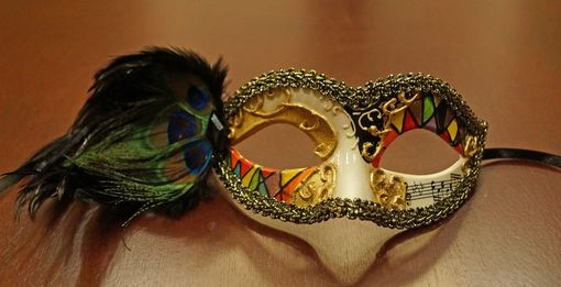Medellin Masquerade Mask With Feathers
