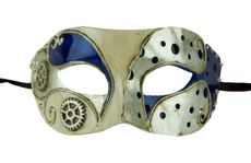Men's Masquerade Ball Mask Blue Venetian Party Mask