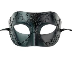 Men's Midnight Masquerade Mask Matte Black