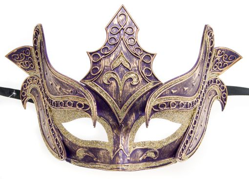 Men's Purple Warrior Masquerade Mask