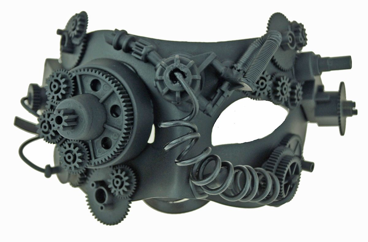 Men's Tactical Steampunk Eye Mask With Gears
