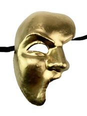 Men's Traditional Phantom Mask Gold Men's Venetian Costume Mask