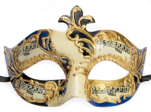 Men's Venetian Masquerade Mask Black