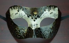 Men's Venetian Masquerade Mask Dark Bronze