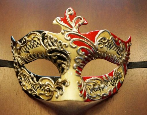 Men's Venetian Mask Red And Black