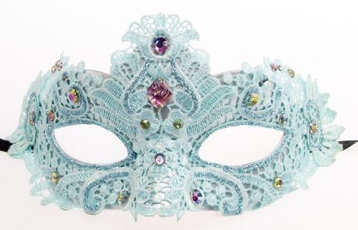 Mermaid Lace Masquerade Blue Mask