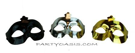 Metallic Masquerade Eye Mask Set