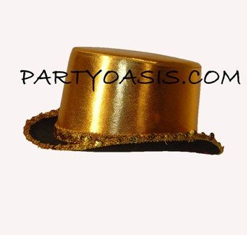 Metallic Gold Top Hat