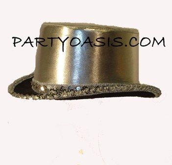 Mettalic Silver Top Hat