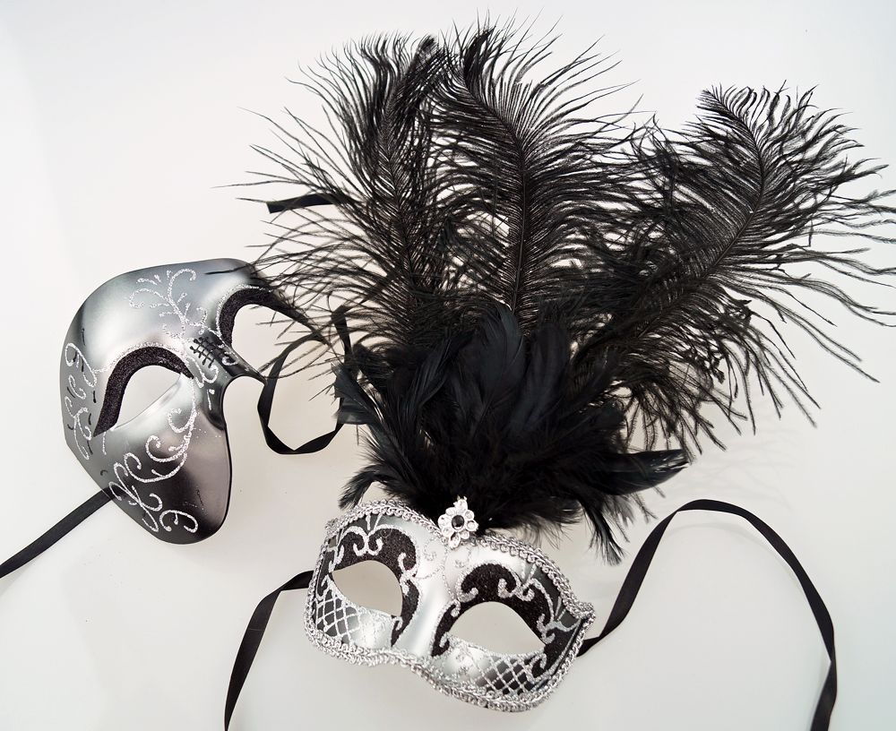 Midnight Couples His & Hers Masquerade Masks