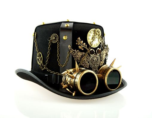 Military Steampunk Top Hat