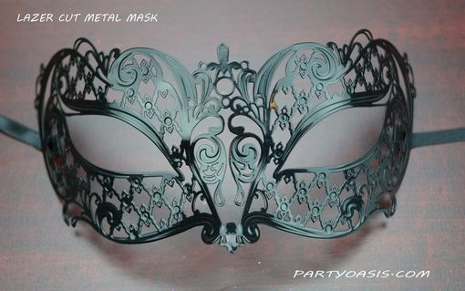 Black Miraku Lazer Cut Masquerade Eye Mask