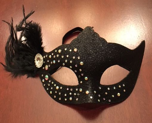 Mystic Masquerade Feather Mask Black
