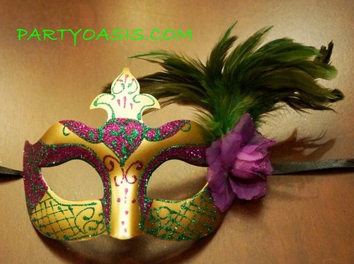 New Orleans Feather Eye Mask