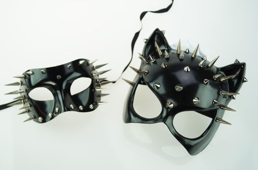 Spiked Couples Masquerade Masks