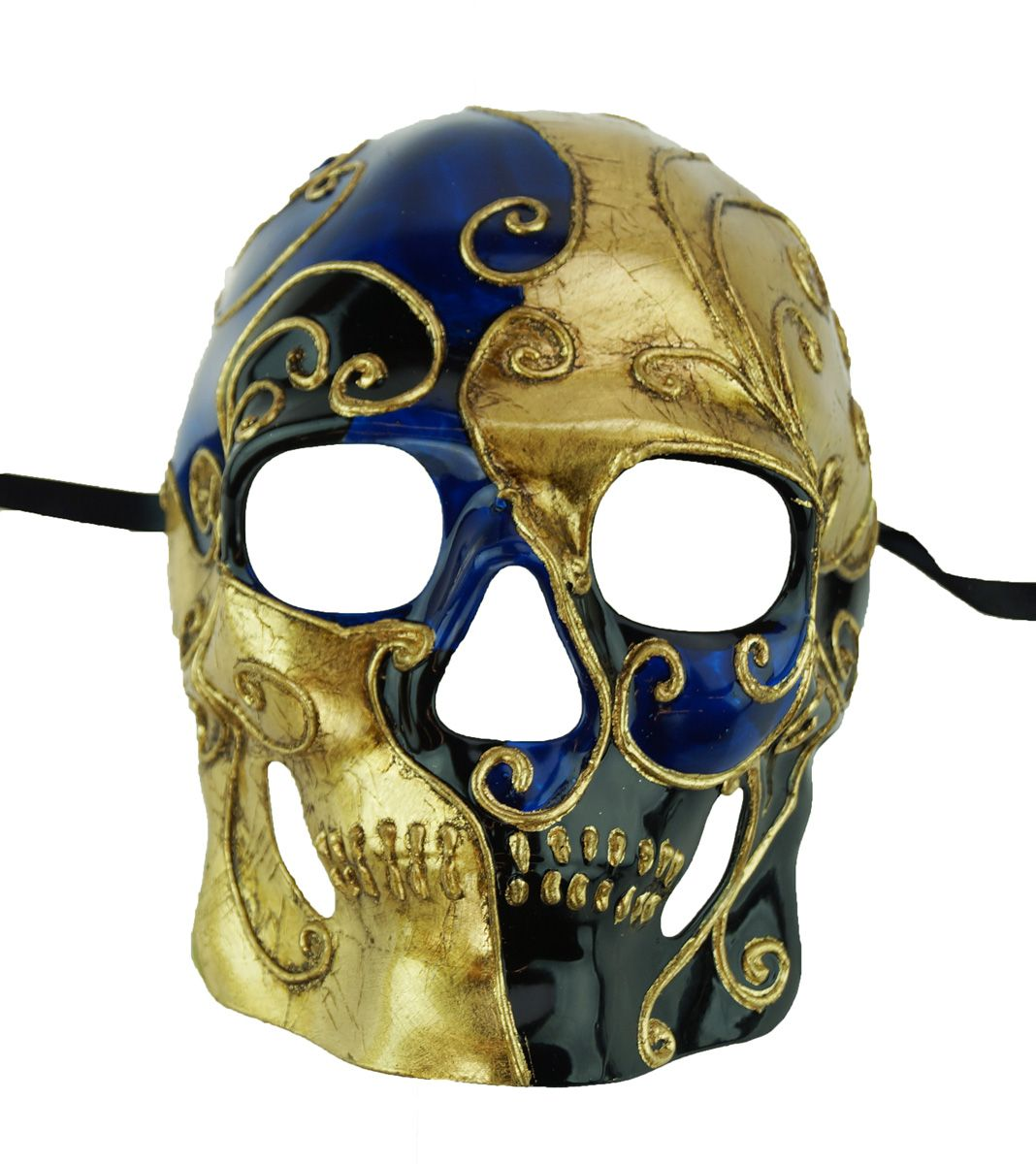 Abstract Skull Mask Blue
