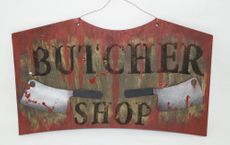 Halloween Butcher Sign