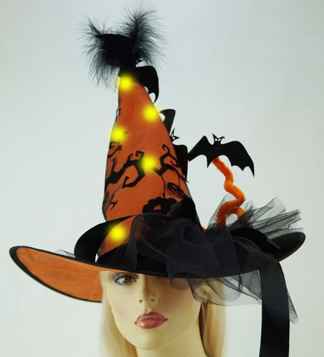 Orange Witch Hat Light Up