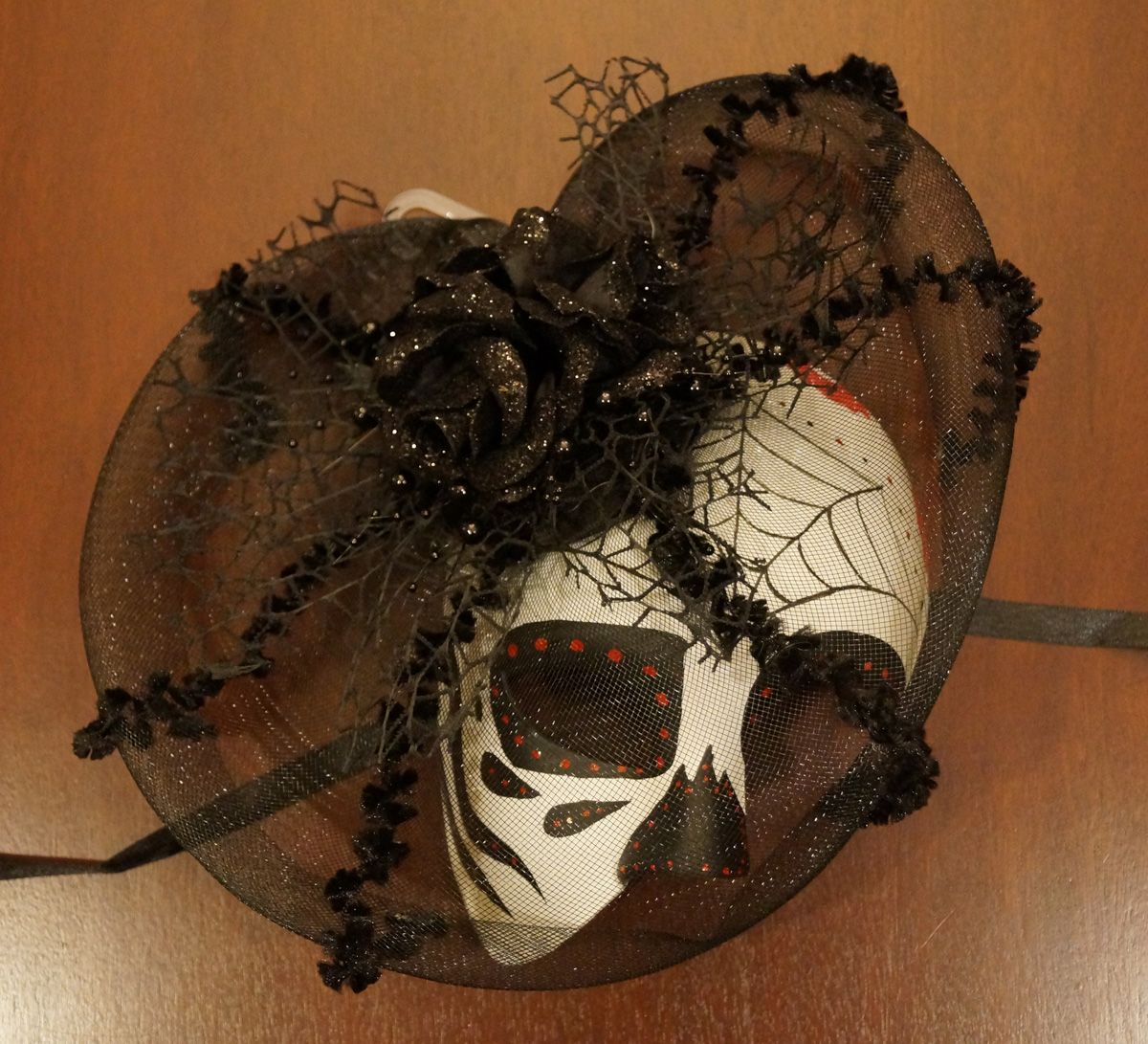 Day Of The Dead Spider Mask