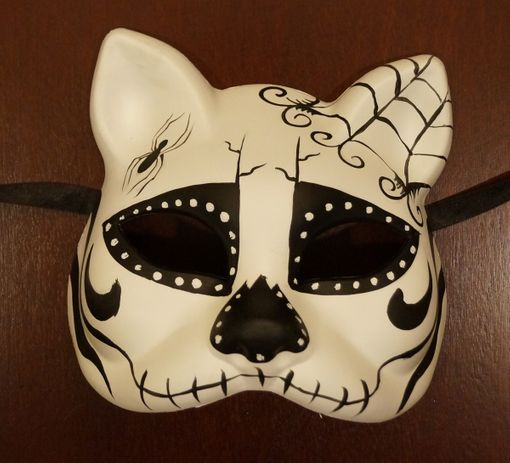Day Of The Dead Cat Mask
