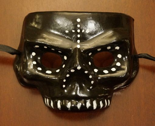Day Of The Dead Skull Mask Black