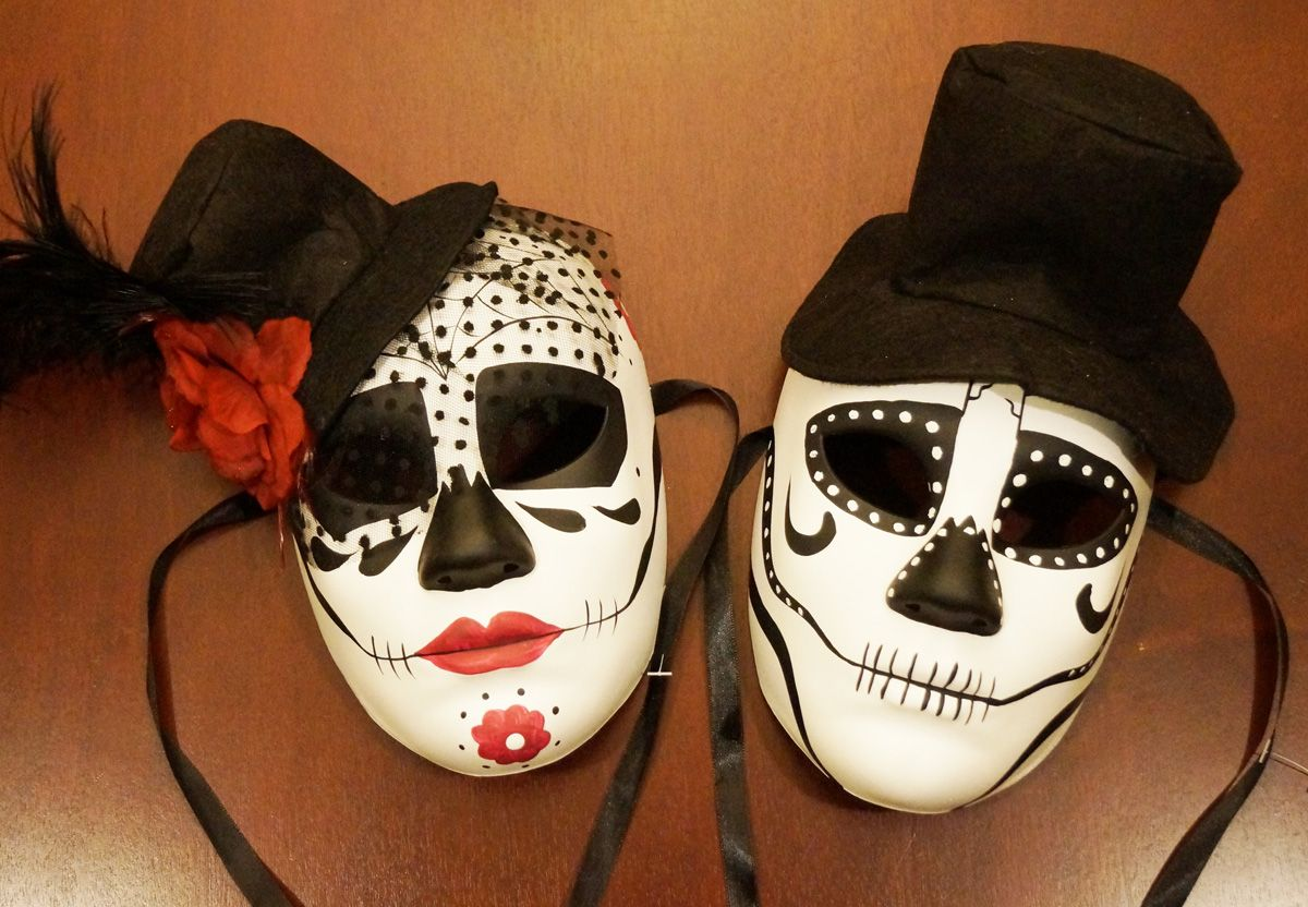 Couples Skeleton Masks