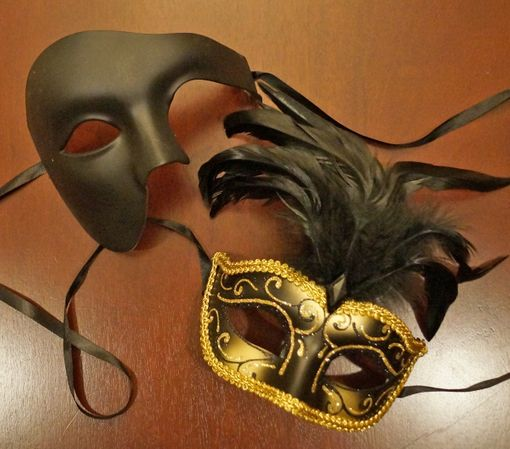 Black Phantom Couples Mask Set