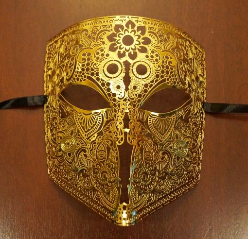 Men's Bauta Mask Gold