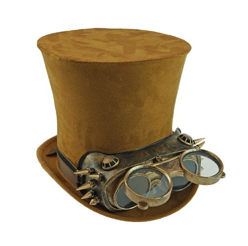 SuSuede Steampunk Top Hat With Vintage Goggles Steampunk Costume Hat