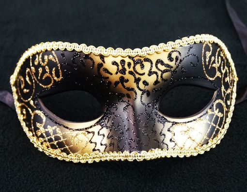 Black And Gold Venetian Masquerade Mask