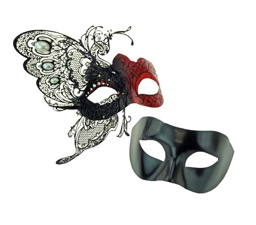 Red Couples Venetian Masquerade Party Masks