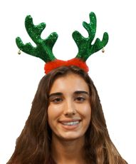 Reindeer Antler Headband Christmas Festive Holiday Party Green