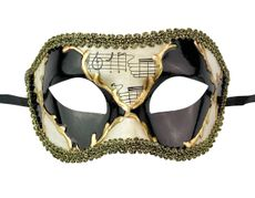Kyros Men's Venetian Mask Gold And Black