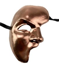 Men's Traditional Venetian Phantom Mask Copper