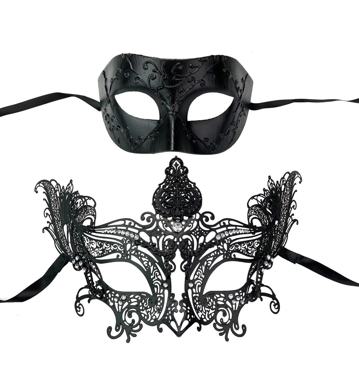 Couples Masquerade Eye Mask Set His & Hers Set Couples Prom Party Set
