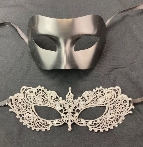 Fifty Shades Couples Masks Black And Grey